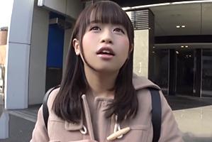 (シロウト)Twitterでキャッチした少女ロケット乳女子大学生にHOTELでナマ中☆