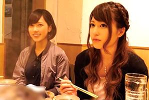 (シロウト)相席居酒屋でイケイケのいいモデル社内レディー2人組を完全ヤリ目キャッチ