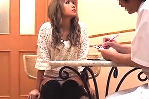 (隠し撮り)日サロ帰りのモデル級渋谷GALをマッサージ強姦