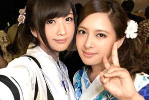 (シロウト)横浜の花火大会でキャッチした美しい乳&美尻の浴衣モデルとサンピー☆