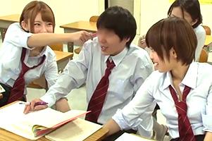 セックスは生派なショート美巨乳のやりまん同級生2人とナカ出しサンピー☆