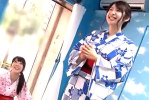 (シロウトキャッチ)花火大会の浴衣女子大学生が賞カネ欲しさに野球拳☆
