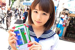 (キャッチ)秋葉原でチラシ配りしている美10代小娘カフェ店員を即ハメ☆