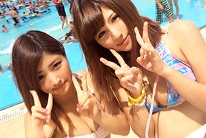(シロウトキャッチ)練馬区のプールでゲットした即ハボ女子大学生とサンピー☆