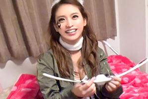 (シロウト)渋谷ハロウィンで終電逃した美巨乳うさみみガールとキャッチsex☆