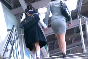 (一部始終)入学式帰りのJCと母親を駅から尾行して強姦☆