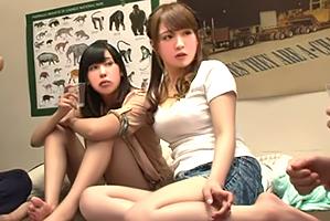(秘密撮影)先輩が忘年会に連れてきたロケット乳女子大学生と泥酔大乱交☆
