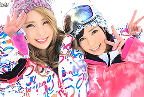 (シロウト)湯沢スキー場でキャッチした超イケイケの良いロケット乳GALとサンピー☆