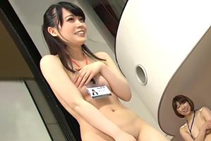 (シロウト)忘年会で野球拳の餌食になるAVメーカーのモデル新入店員☆