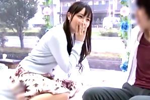 (シロウト)モデル経済学部生が男親友とMM号で合法露出SEX☆