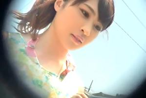 (海キャッチ)江の島に遊びに来ていたモデル女子大学生を車で即ハメ☆