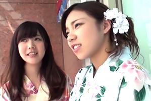 (浴衣キャッチ)千葉の夏祭りでキャッチした19才の学生2人組とサンピー☆