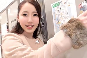 (シロウト)Fカップがバインバイン☆新宿駅でほろ酔い社長令嬢をキャッチ☆