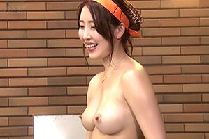 (シロウト)素晴らしい美しい乳社内レディー参戦☆混浴風呂でだるまさんが転んだ☆