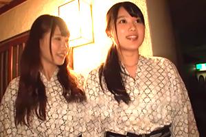 (シロウト)混浴りょこう中の女子大学生がナカ出し1発10萬円の逆よばい☆