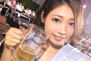 (ビアガーデンキャッチ)お酒の力で20才の大学生をお持ち帰り成功☆