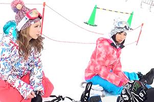(シロウト)湯沢スキー場でエア決めてた新潟のスノボモデルとキャッチサンピー☆
